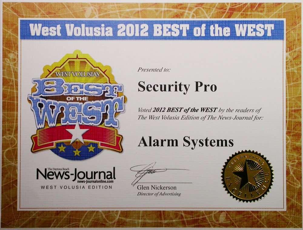 Security Pro wins News Journal award