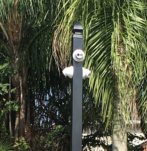 IP Cameras & License plate recognition camera on pole