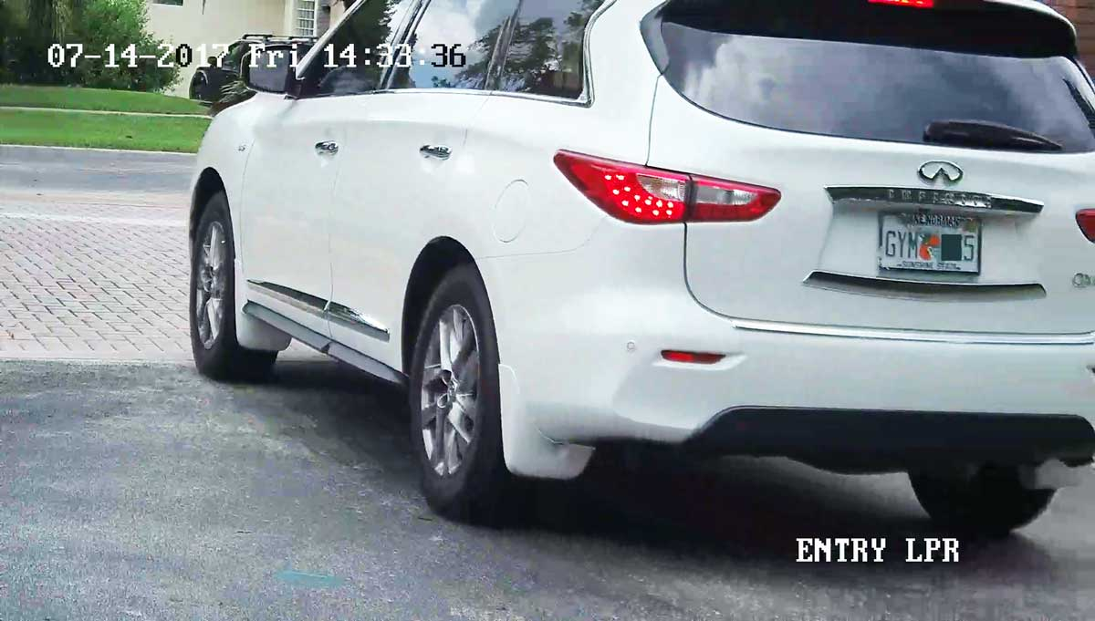 License plate recognition camera LPR