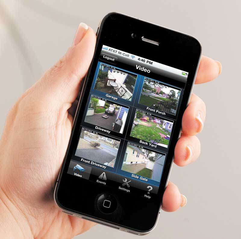 iPhone security video app