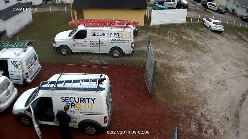 Security Pro trucks on HD video