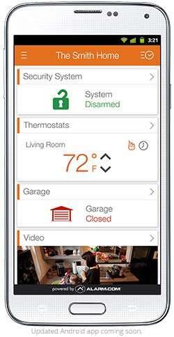 Home security smartphone app