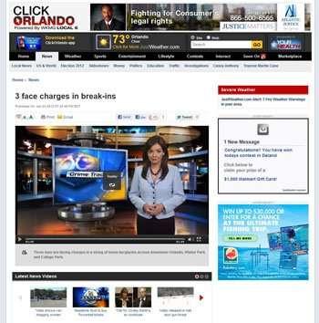 WKMG TV 6 features Security Pro of Florida