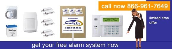 Free business security alarm system by Security Pro